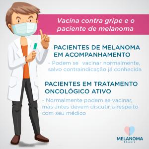 Pacientes de melanoma devem tomar a vacina contra a gripe?