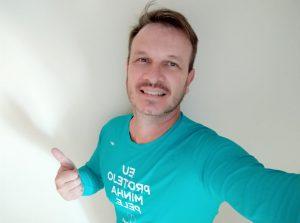 Fabio Mastros, paciente de melanoma e voluntário do Instituto Melanoma Brasil