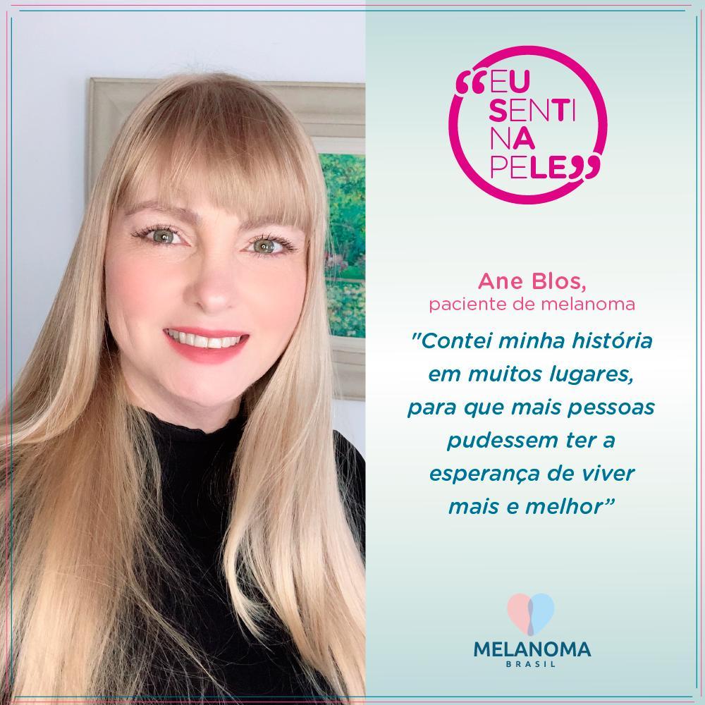 Ane Blos, paciente de melanoma
