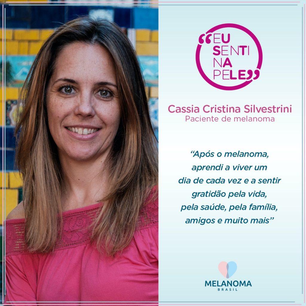Cassia Cristina Silvestrini, 46 anos, terapeuta transpessoal e paciente de melanoma