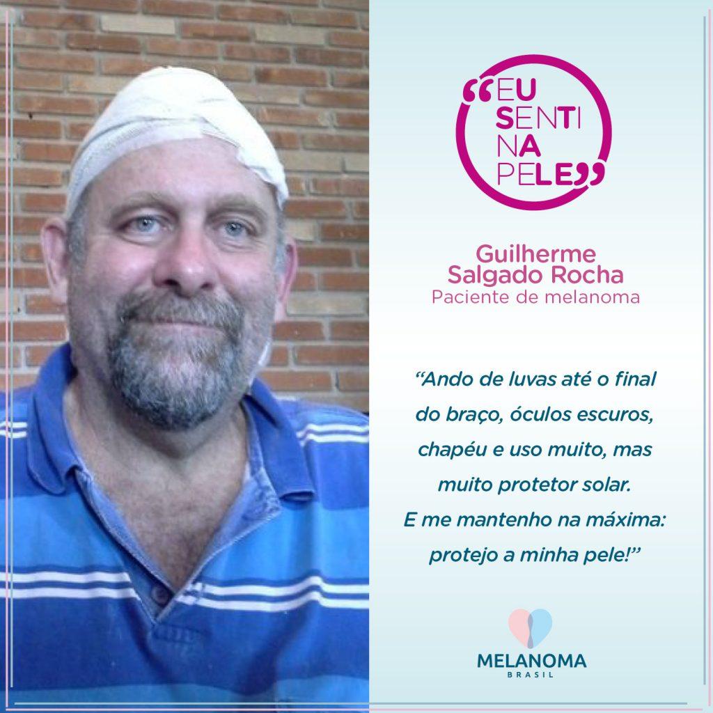 O jornalista Guilherme Rocha, paciente de melanoma, conta sua história