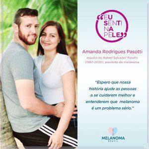 Amanda e o marido, Rafael Pasotti, paciente de melanoma metastático